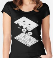 Exploded Cassette Tape  Women's Fitted Scoop T-Shirt