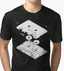 Exploded Cassette Tape  Tri-blend T-Shirt