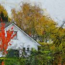 Grey Lodge in Fall by Gilberte