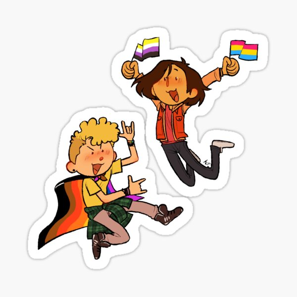 Bill and Ted's Homosexual Pride Sticker