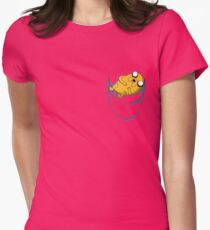 Adventure Time: Jake in Pocket Womens Fitted T-Shirt
