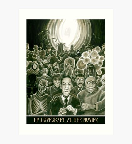 HP Lovecraft At The Movies Art Print