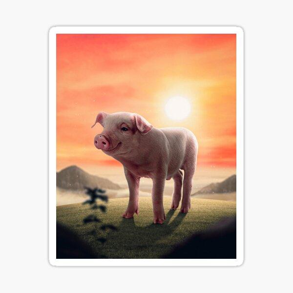 I am a happy Piggy Sticker