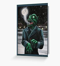 Innsmouth Winter Greeting Card