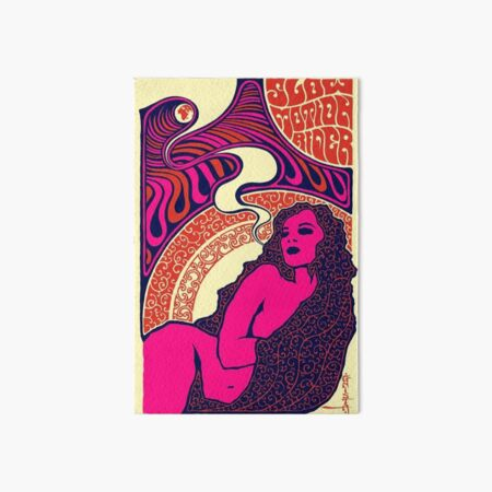 Psychedelic 70s Poster Art Board Print