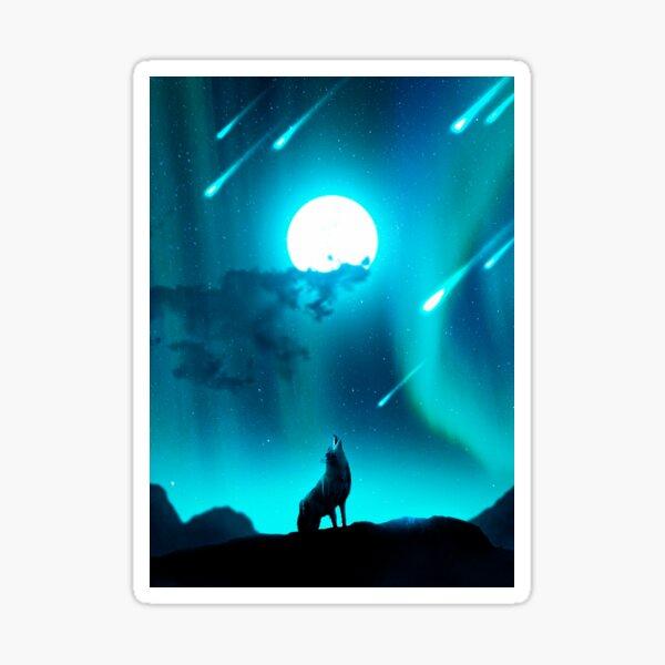 I am a Howling Wolf Sticker