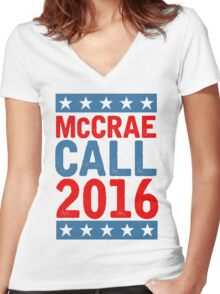 McCrea / Call 2016 Presidential Campaign - Lonesome Dove  Women's Fitted V-Neck T-Shirt