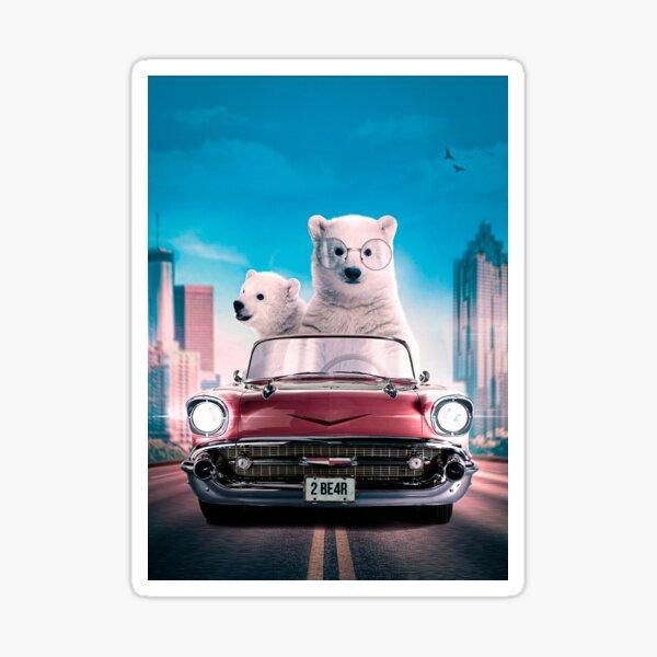 I am a driving Bear Sticker