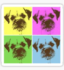 Border Terrier Gifts for Dog Lovers Andy Warhol Inspired Neon Pink, Yellow, Green, Blue Sticker