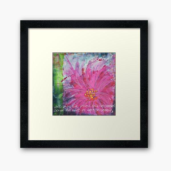Frühlingserwachen: »pink daisy« Gerahmter Kunstdruck