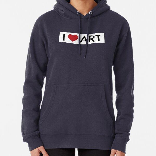 I Heart Art Pullover Hoodie