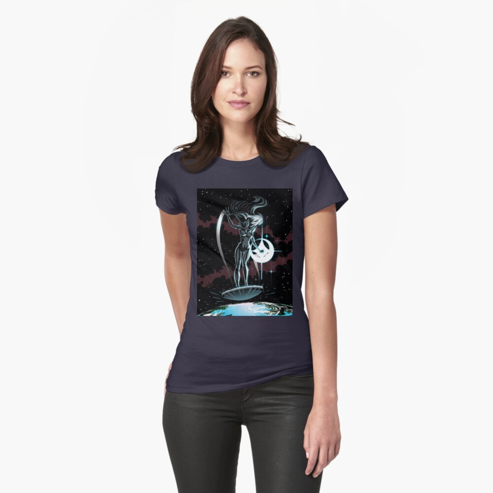 Lady Surfer Womens T-Shirt Front