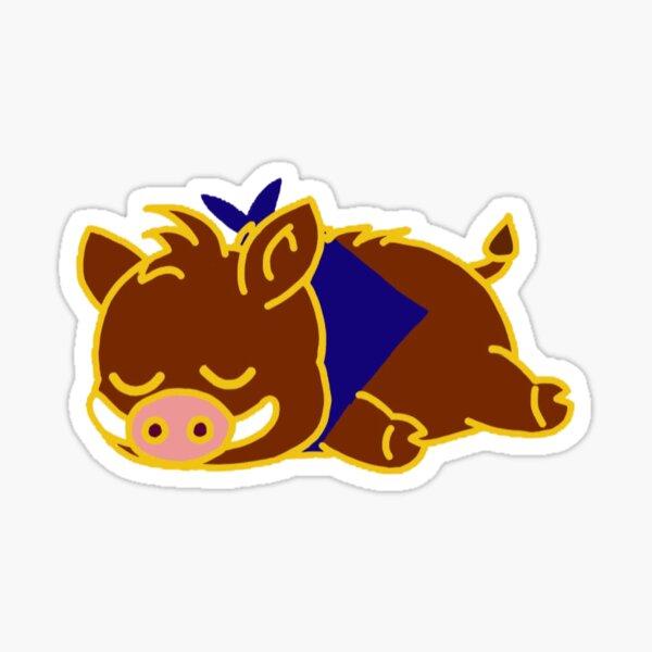lazy boar Sticker