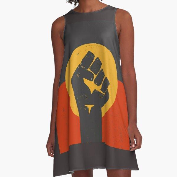 BLM Black Lives Matter Australian Aboriginal Flag  A-Line Dress