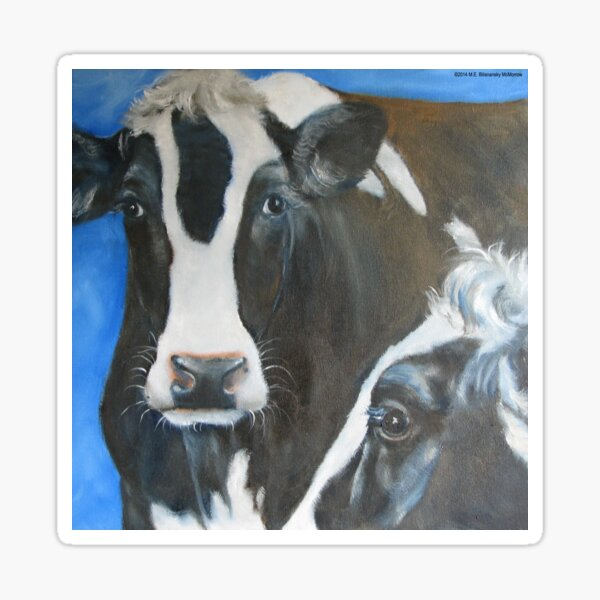 Two Cows Sticker