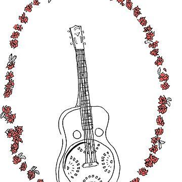 Dobro Icon with Red Roses by SarahRedShoes