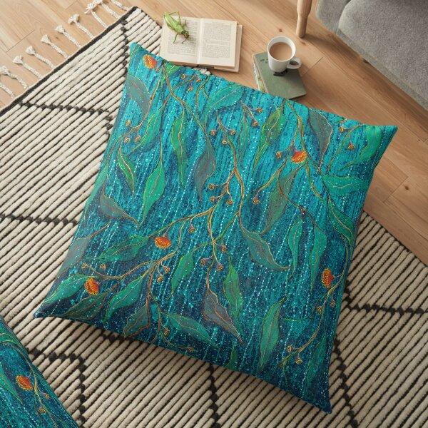 Raindrops on Gumnuts Floor Pillow