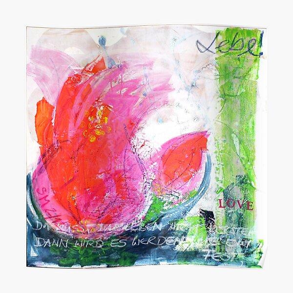 Frühlingserwachen: »orange tulip« Poster