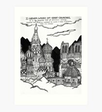 Cathedrals as Landscape Art Print