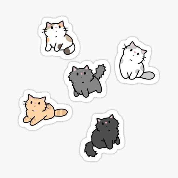 Kittens and fish pattern  Sticker