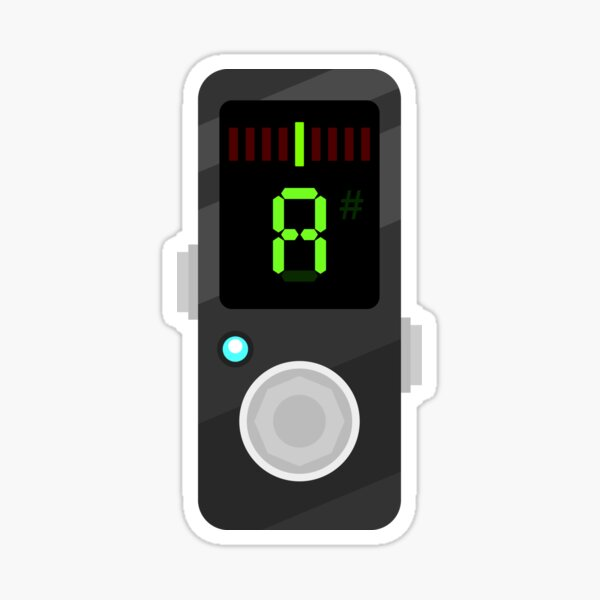 Flat Guitar Pedal - Tuner - Good to go! Sticker