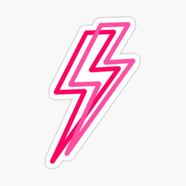 double lightning bolt Sticker