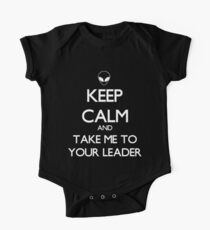 Keep Calm And Take Me To Your Leader Kids Clothes
