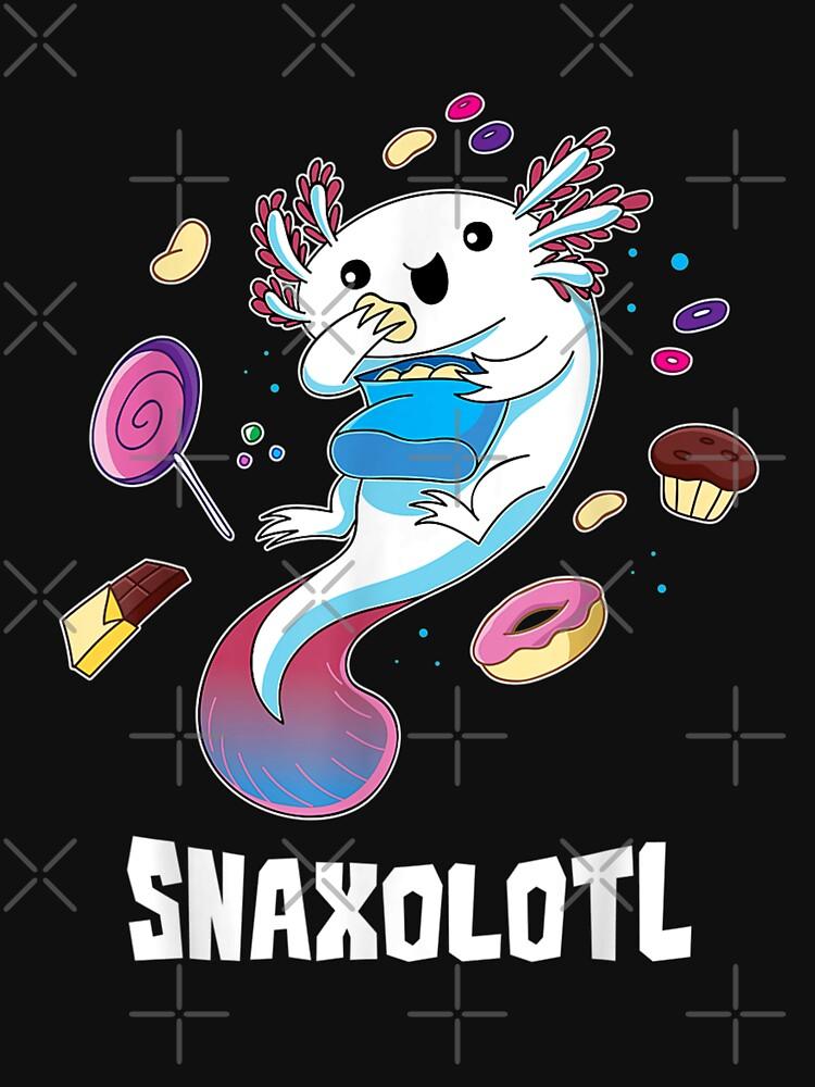 Snaxolotl Funny Kawaii Axolotl Food Lover Gift by HectorBurton