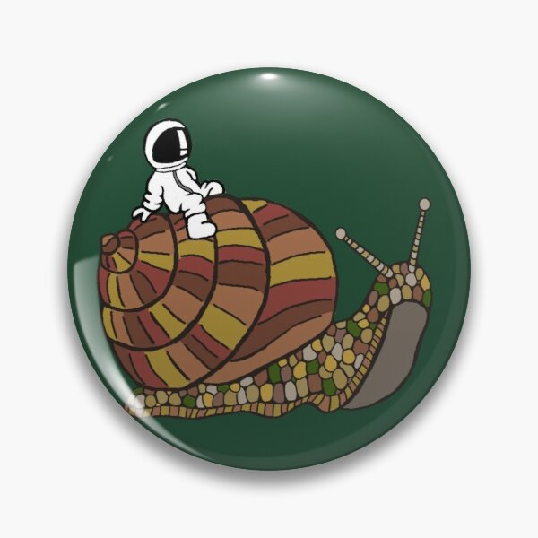 Chill Spaceman Snail Ride Pin