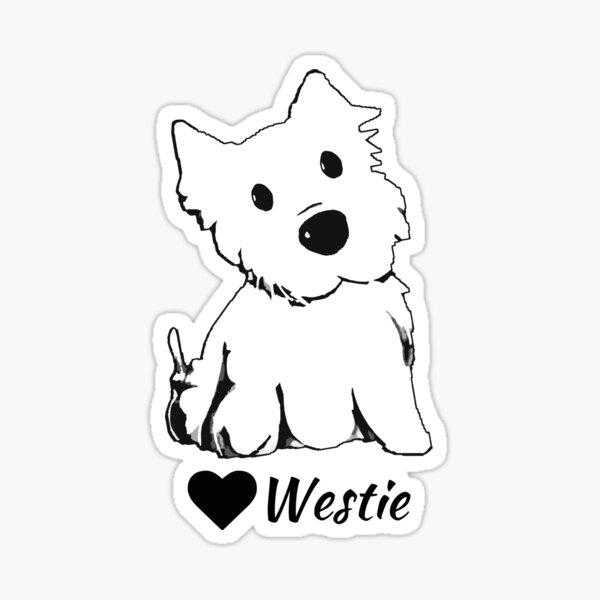 Cute Westie Lover Sticker