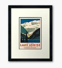 Vintage Travel Poster: Lake Louise Framed Print