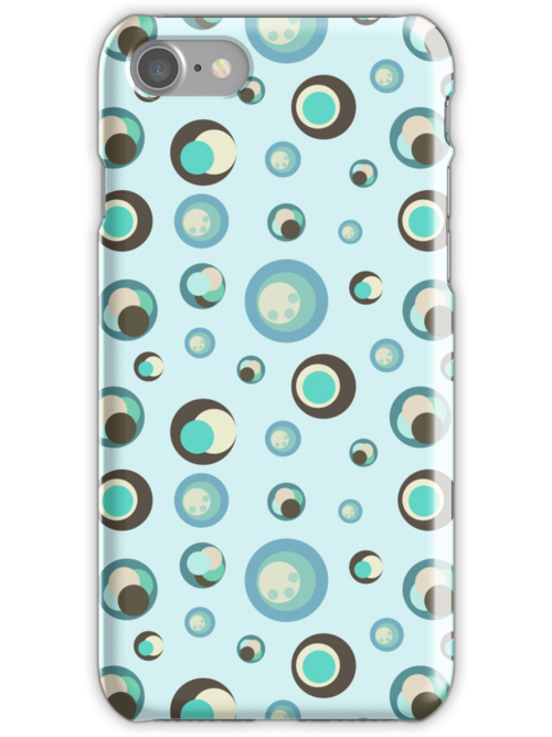 Seamless retro pattern with circles illustration by Ana Marques