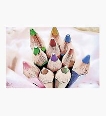 coloured pencils Photographic Print