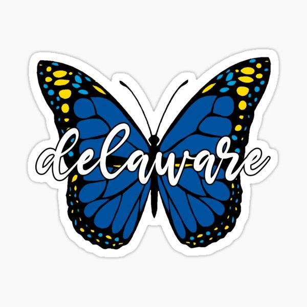 Delaware Butterfly Sticker