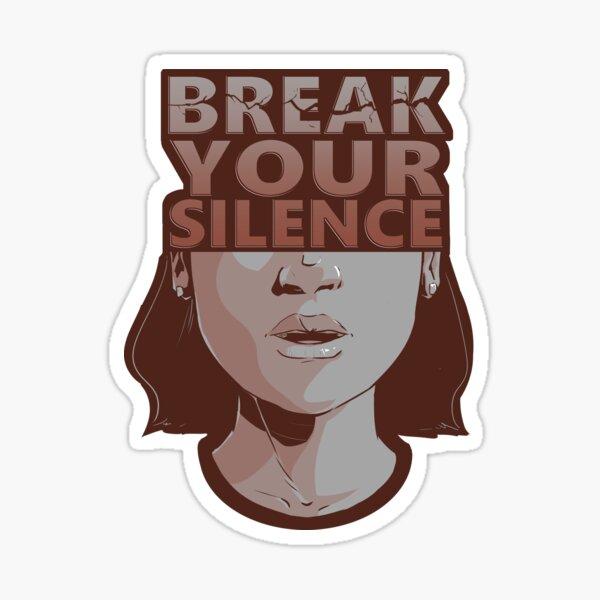 Break Your Silence Female Sticker