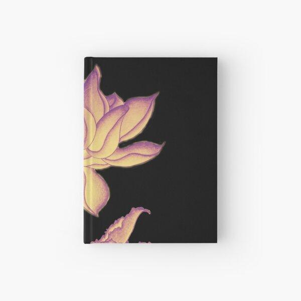 Lotus-like flower (purple-yellow hue) Hardcover Journal