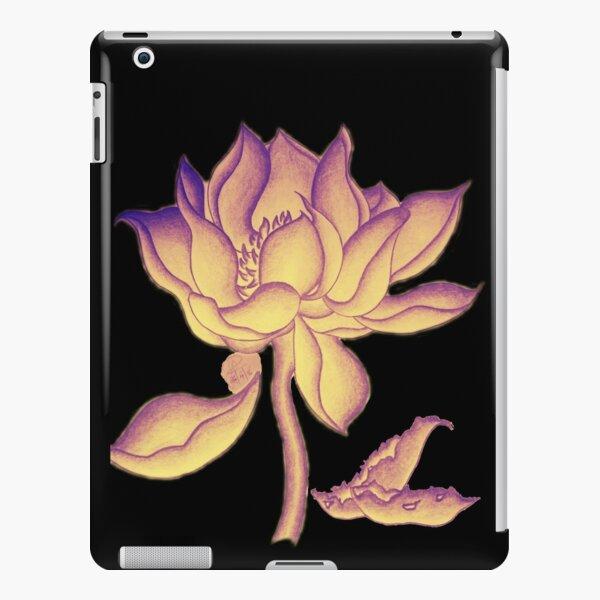 Lotus-like flower (purple-yellow hue) iPad Snap Case