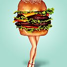 """Stacked"" - Cheeseburger Girl by Kelly  Gilleran"