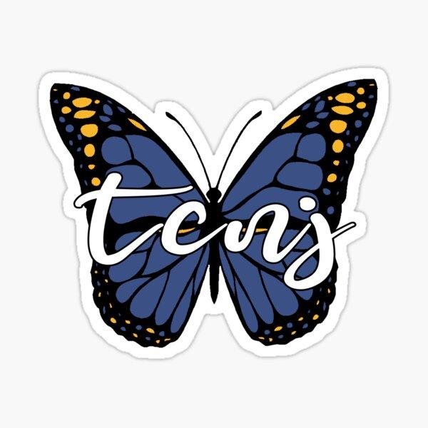 TCNJ Butterfly Sticker