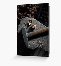 walnut and hammer Greeting Card