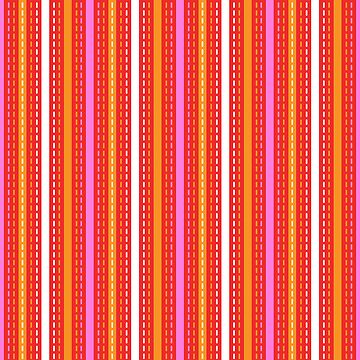 Tilkkutakki stripe 2 (Red) by nekineko