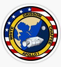Apollo 1 Mission Logo Sticker