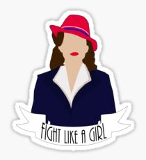 "P. Carter: ""Fight like a Girl."" Sticker"
