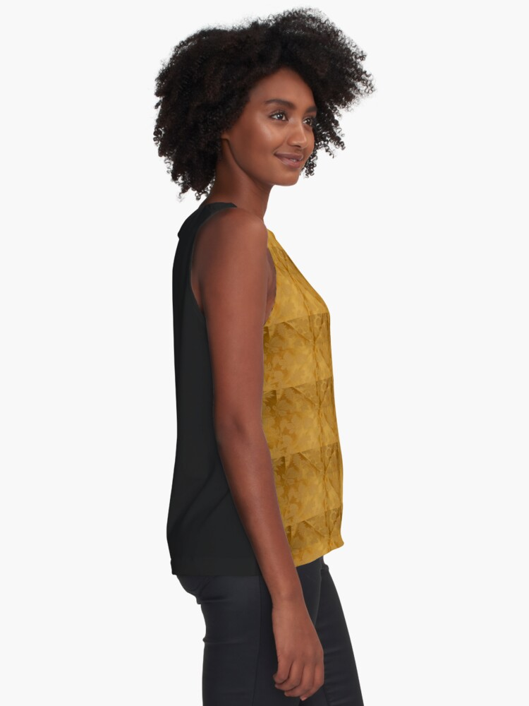 Alternate view of Dipped in Gold  Sleeveless Top