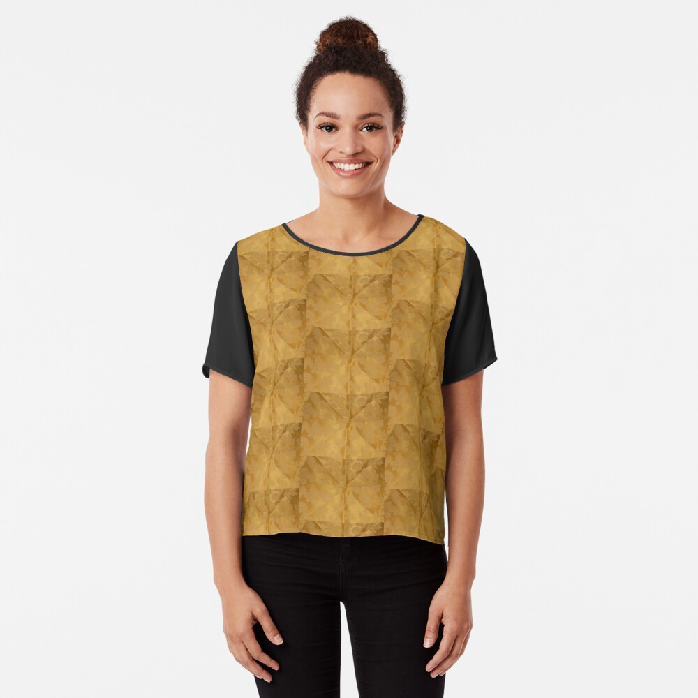 Dipped in Gold  Chiffon Top