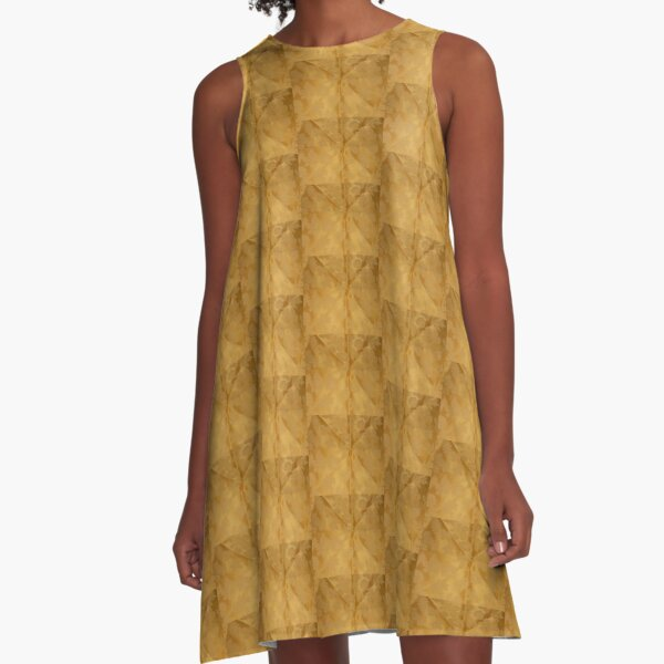 Dipped in Gold  A-Line Dress