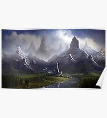 Twisted Mountain Valley Poster