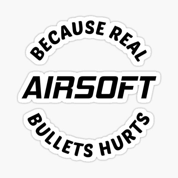 Airsoft Lovers Gun Player Gift Sticker