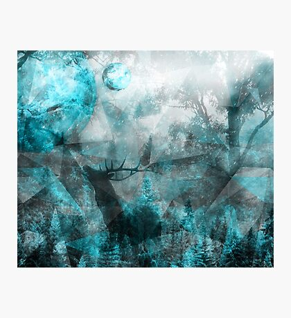 Magic Blue World Photographic Print