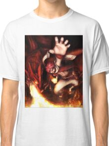 Fairy Tail-Natsu and Igneel-Full Graphic Shirt Classic T-Shirt
